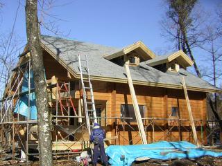 ▲屋根の仕上げと外部の塗装です!
